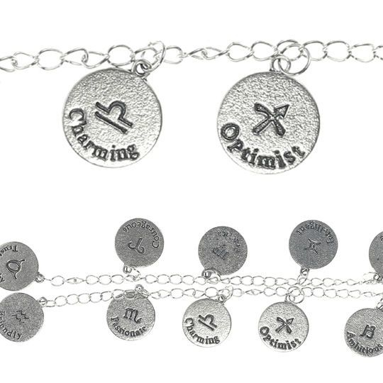 Bead Gallery® Zodiac Metal Beads, Silver