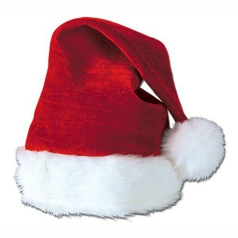 Child Plush Santa Hat Red 1577 Christmas Plush Christmas Hat Plush Santa