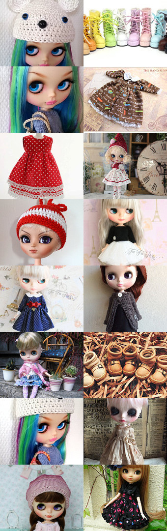Pullip and Blythe, ready for summer fun by Lisa Astrup on Etsy--Pinned+with+TreasuryPin.com
