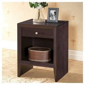 leelanau modern accent table and nightstand brown baxton studio