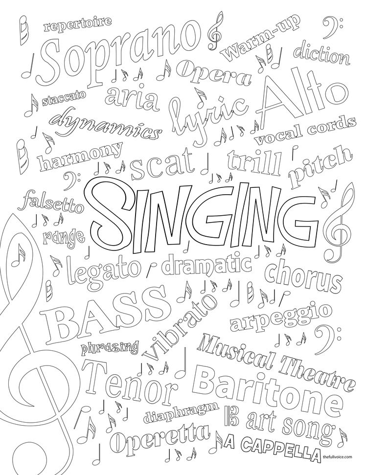 Voice Coloring Page | Free Music Coloring Pages | Pinterest ...