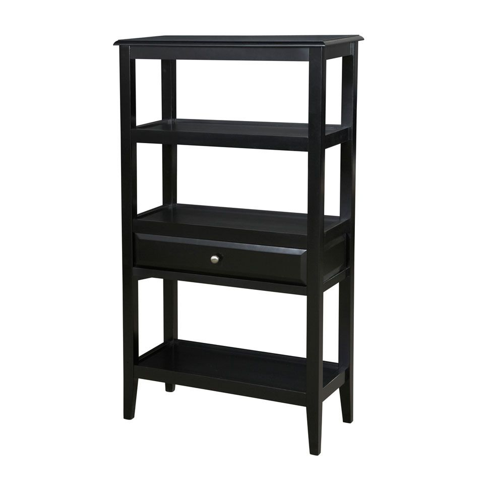 Sedona Short Bookshelf In Antique Black