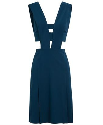 EMILIO DE LA MORENA - Cut-Out Crepe Silk Dress