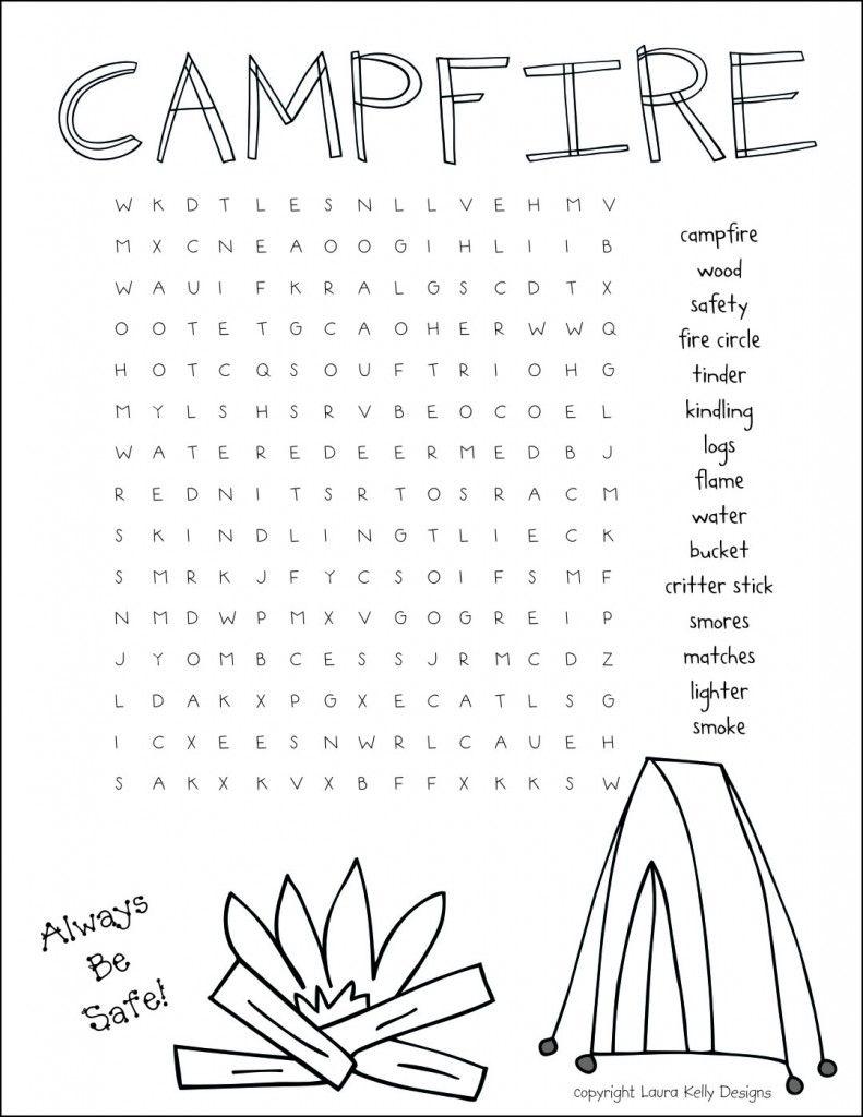 Fun campfire free printable | Printable Fun for Kids | Girl scout ...