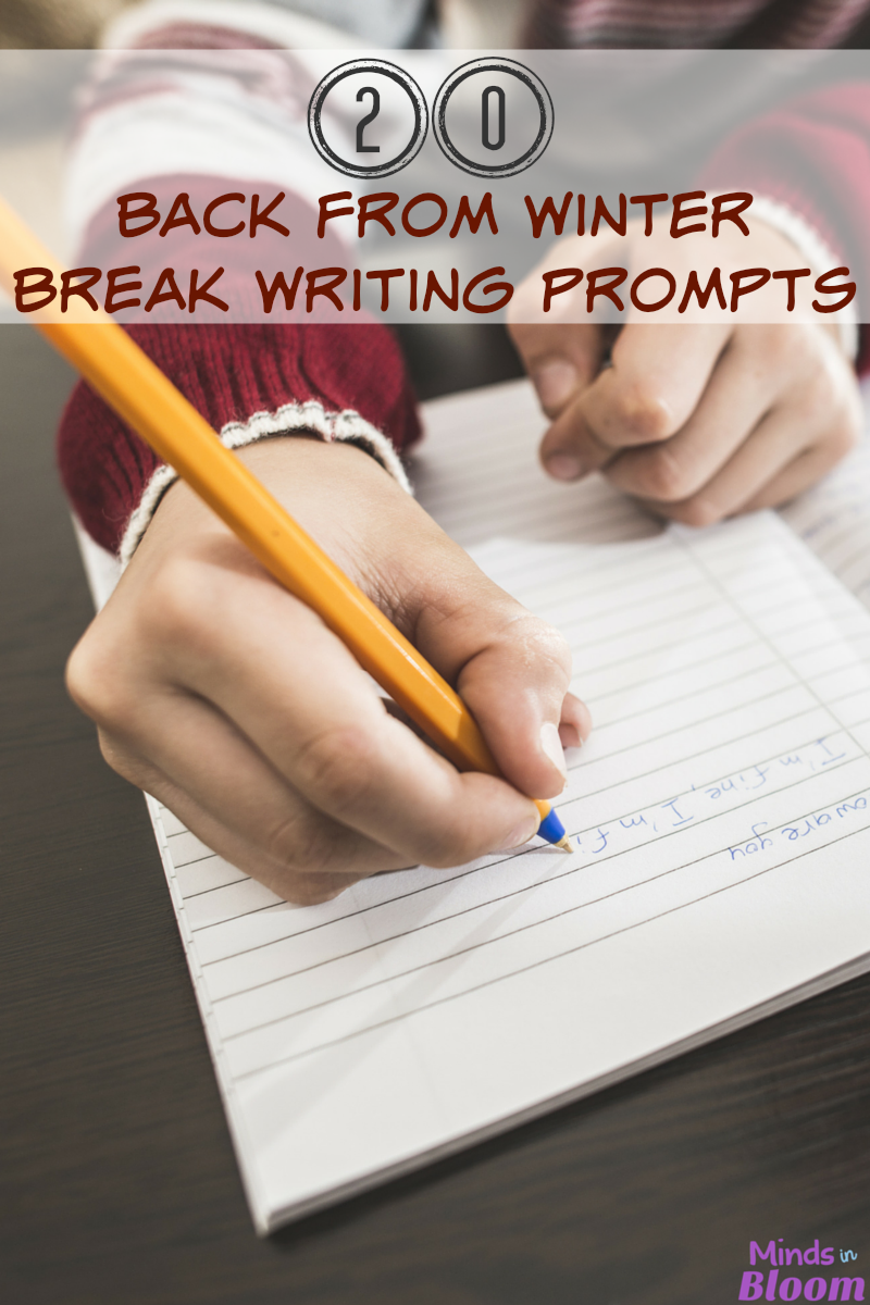 20 Back from Winter Break Writing Prompts | Now that we're all back from winter break, why don't you check out this list of 20 writing prompts that have students share what happened during their time away from school? These will get your students thinking in creative ways, as well as implementing strong critical thinking skills.
