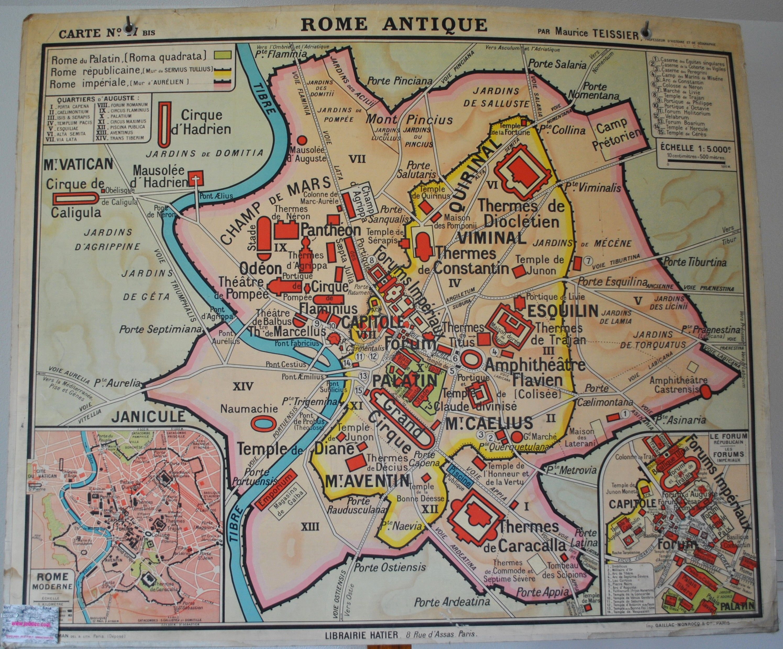 carte de rome antique Carte par M. Teissier N°47 Rome antique et Gaule Romaine   Jélidée