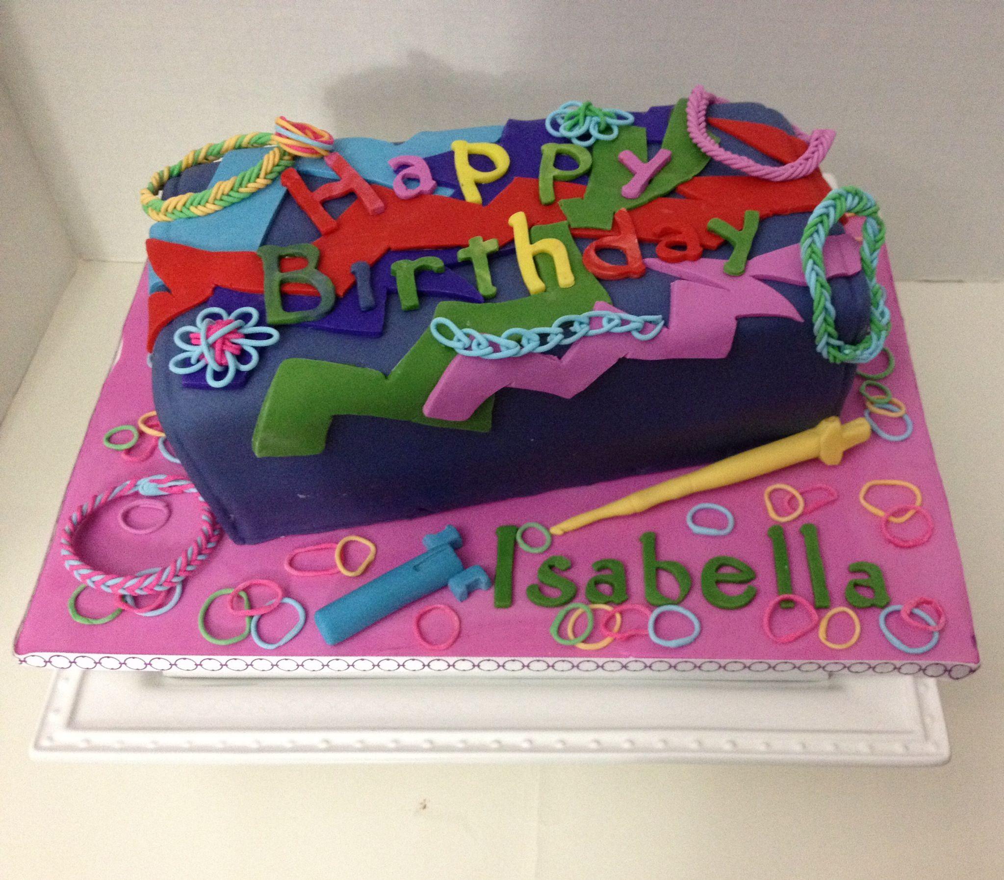 Cake Similar Artists : Rainbow Loom Cake!! http://www.mastermindtoys.com/Rainbow ...