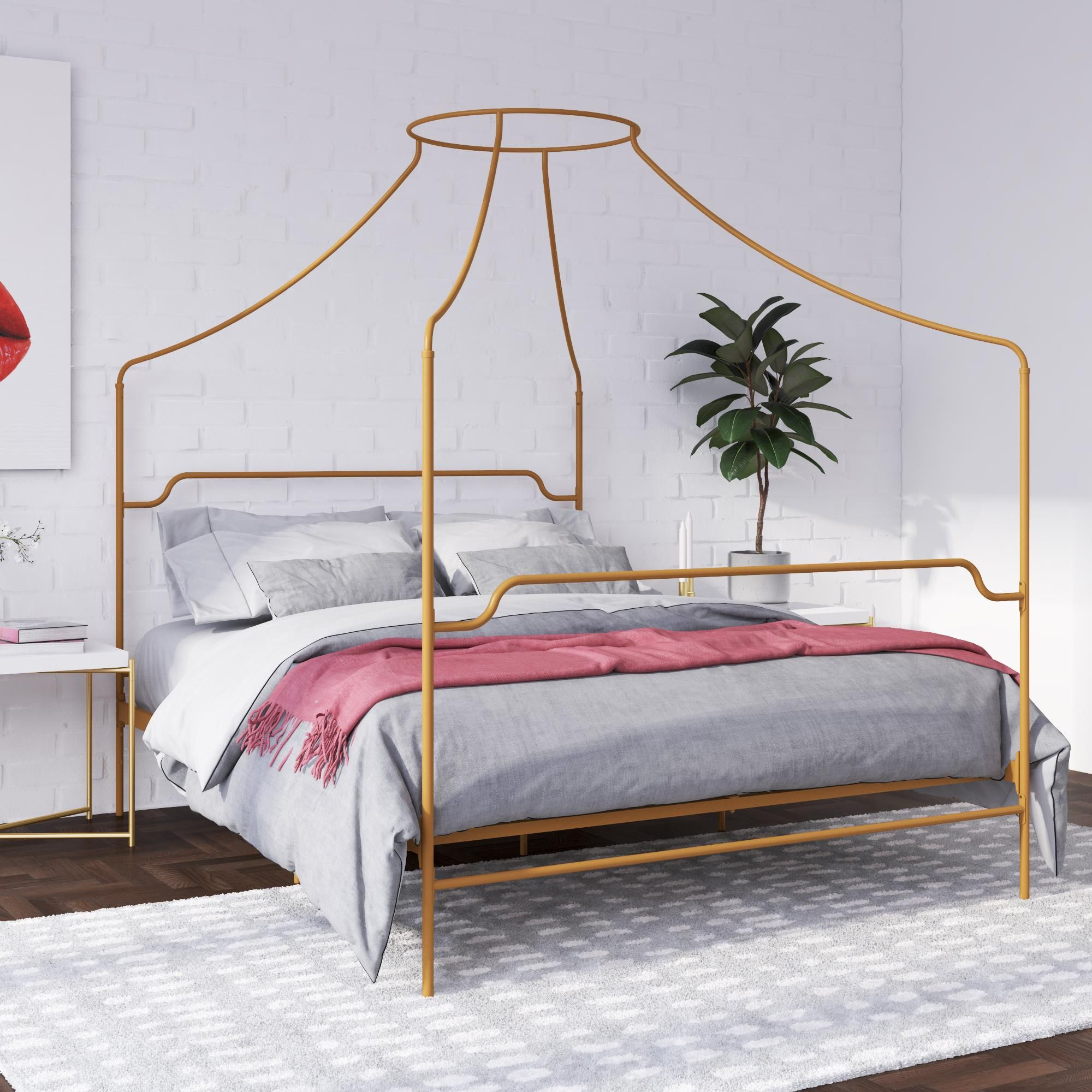 Home In 2020 With Images Metal Canopy Bed King Metal Bed