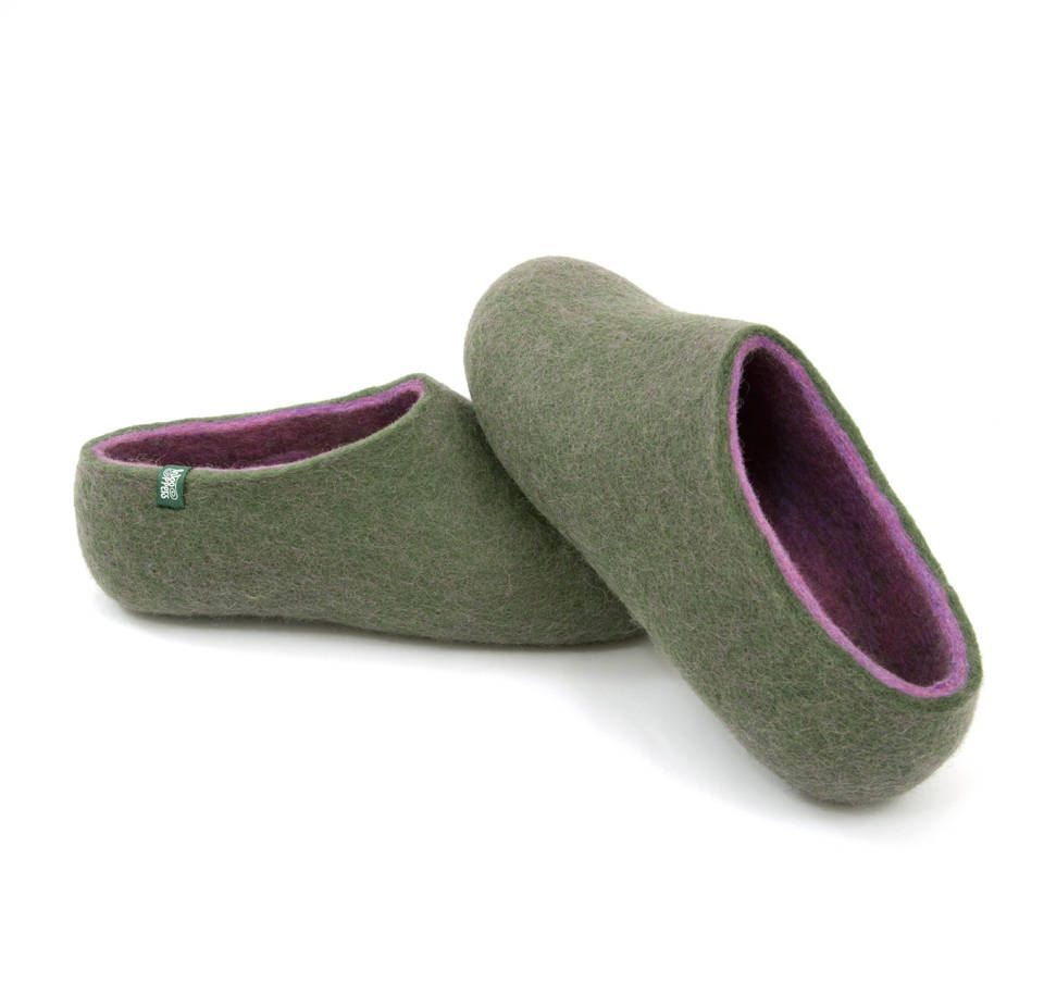 0ca3925e8713b House felted slippers for Women, warm home shoes in merino boiled ...