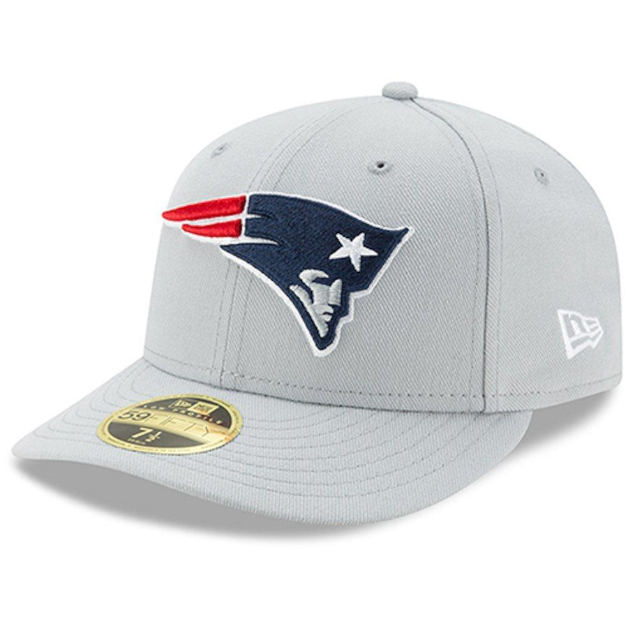 6afb1b5ef Men s New England Patriots New Era Gray Omaha Low Profile 59FIFTY Fitted Hat