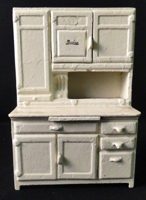 Antique Arcade Cast Iron Doll House Sman Sample Toy Boone Hoosier Cabinet