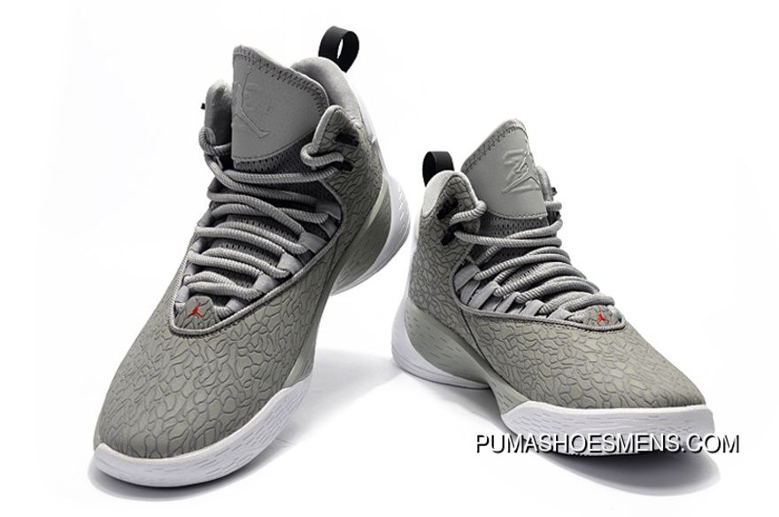 9a1ad99297dc Nike Jordan Super.Fly MVP Cement Grey White-Black Mens Basketball ...