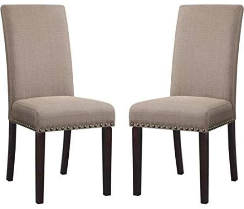 Buy DHI Nice Nail Head Upholstered Dining Chair, Set 2 (1 ...
