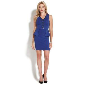 b1ba52946d632 LACE UP PEPLUM DRESS - ShoeDazzle | ShoeDazzle Apparel | Peplum ...