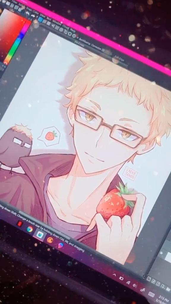 Photo of strawberry tsukki!! #haikyuu