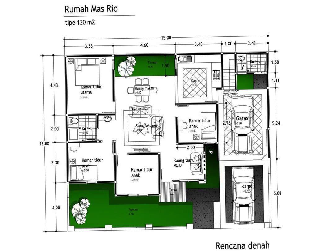 rumah ukuran 8x10 4 kamar tidur