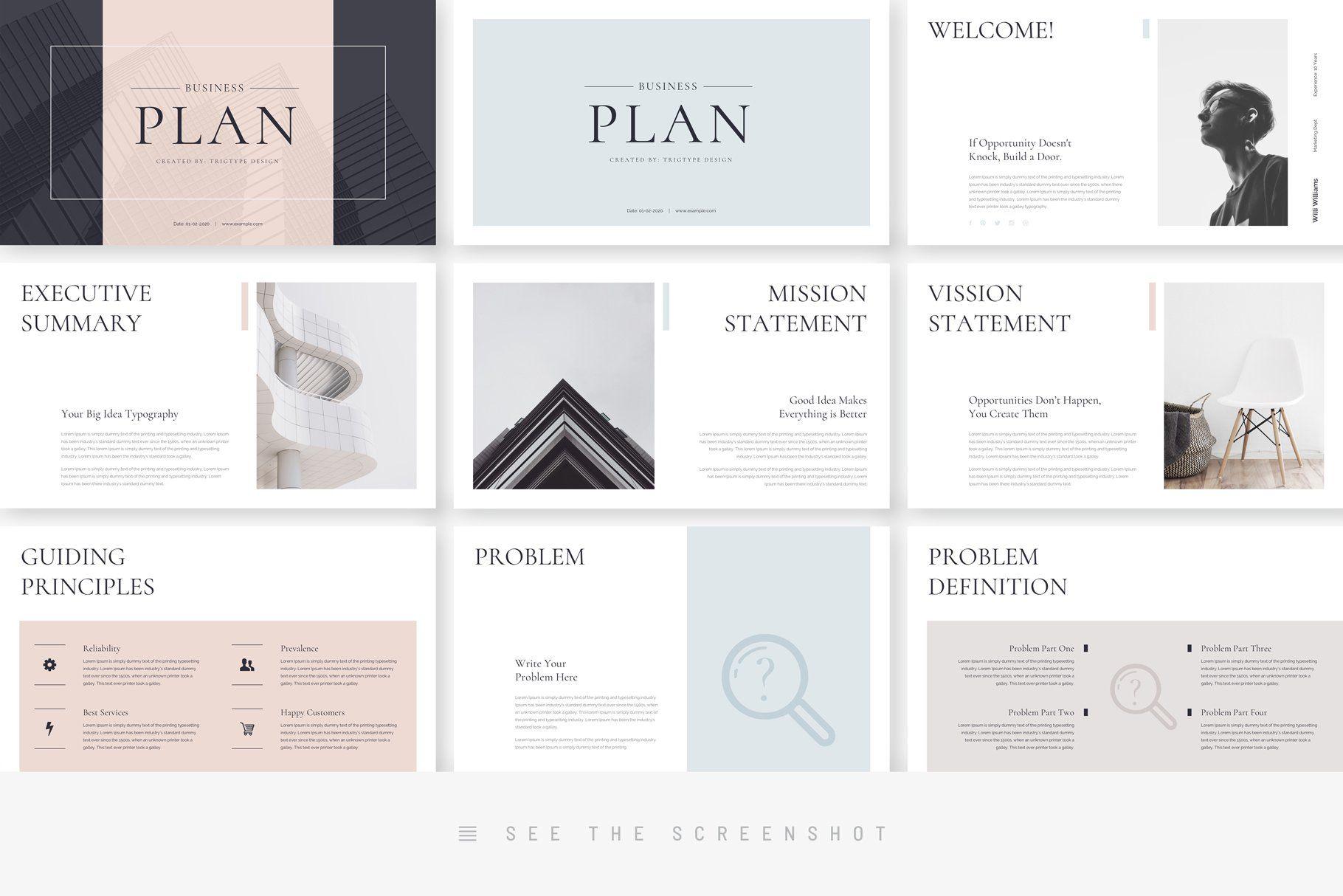 Business Plan Minimal Keynote , Affiliate, VectorBonus