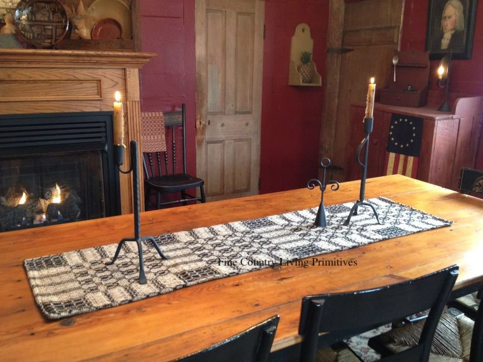 Primitives colonial heirloom textiles fine country for Fine country living