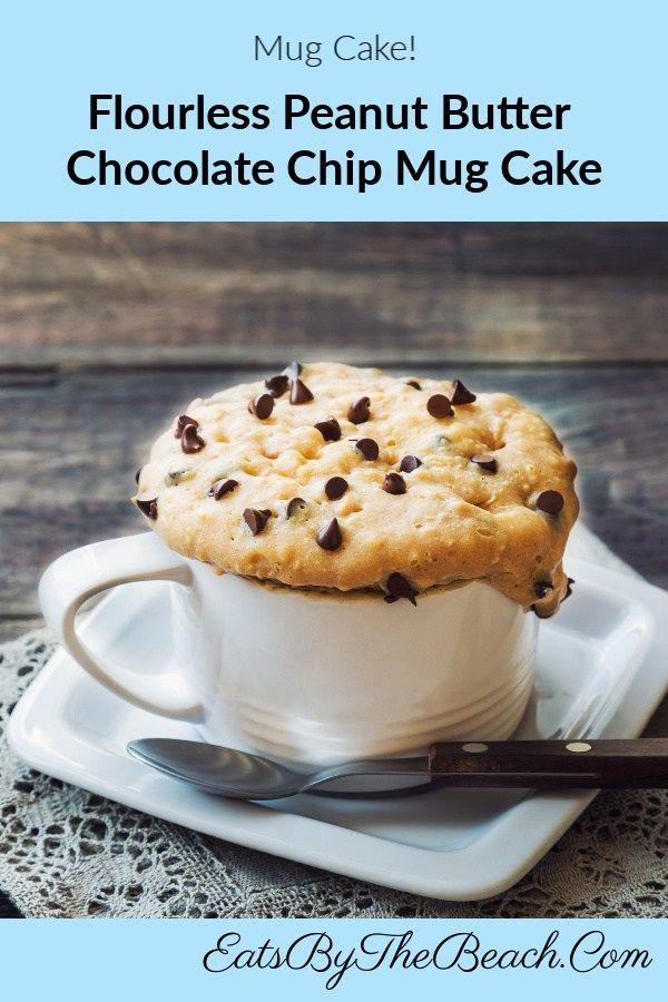 FLOURLESS PEANUT BUTTER CHOCOLATE CHIP MUG CAKE - Eats by ...