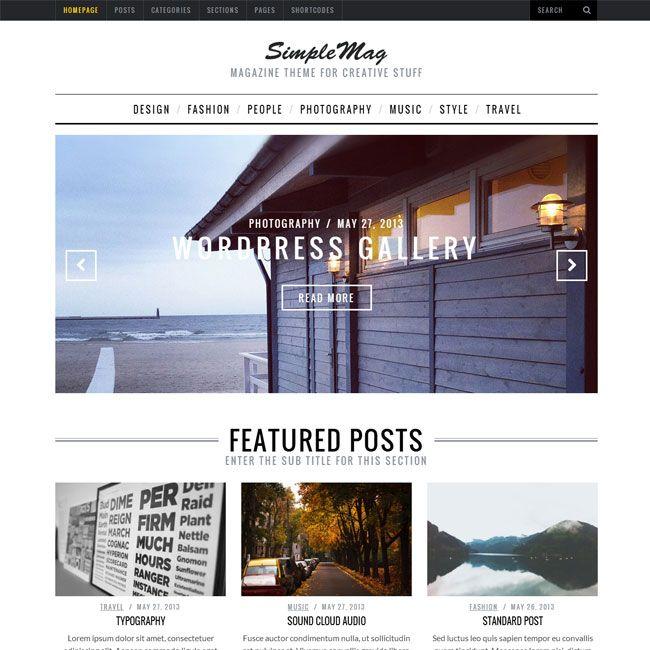 SimpleMag Magazine WordPress Theme | WordPress Theme Download