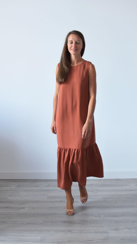 Long Loose Fitting Dress Tencel Dress Ankle Length Dress Etsy Loose Fitting Dresses Tencel Dress Ankle Length Dress [ 3000 x 1687 Pixel ]