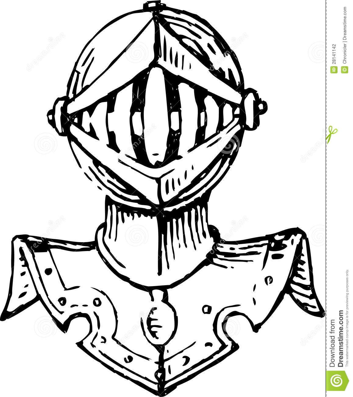 Head Of A Knight In Armor Stock Photography - Image ...