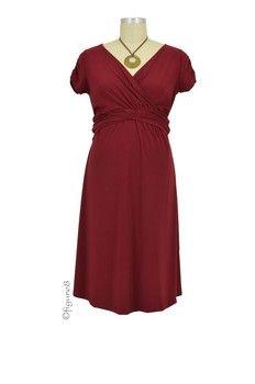 2d5b2e111a0eb Hillary Luxe Jersey Nursing Dress (Burgundy)   After Baby Clothes ...