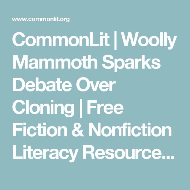 Woolly Mammoth Sparks Debate Over Cloning | Kids worksheets ...