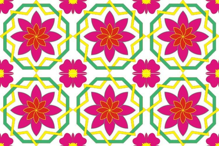 25 Contoh Gambar Ragam Hias Flora Dan Fauna Yang Mudah Digambar Flora Lukisan Bunga Hiasan