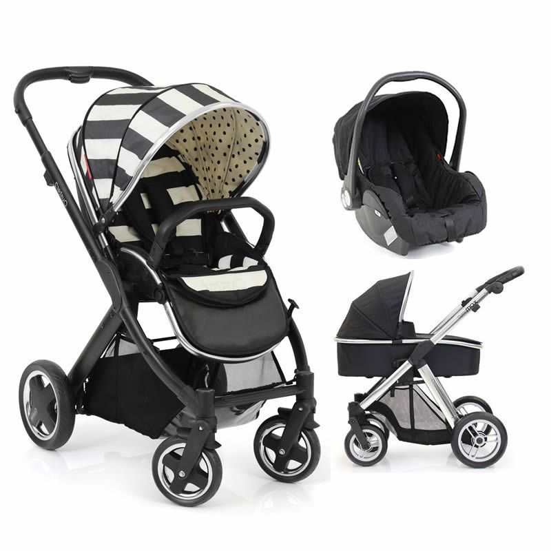 Oyster Vacation: BabyStyle Vogue Oyster 2 Black Satin 3in1 Travel System