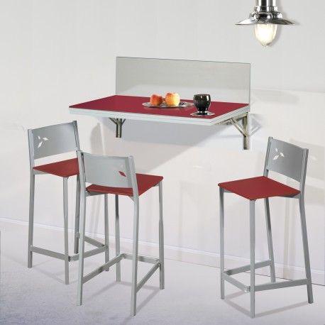 Pack Ahorro en Mesa de cocina de pared con dos ó cuatro taburetes ...