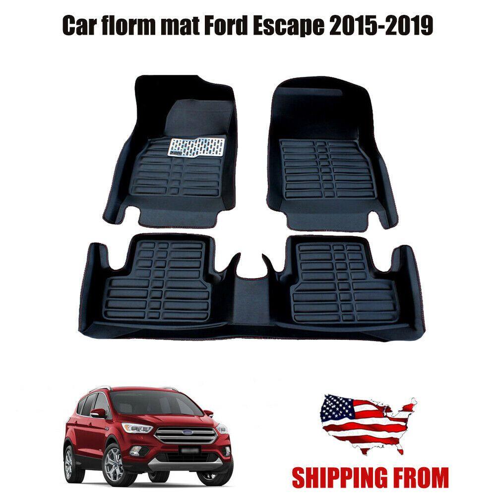 Car Floor Mats Front Rear Liner Waterproof Mat For Ford Escape 2015 2019 In 2020 Ford Escape 2015 Car Floor Mats Ford Escape