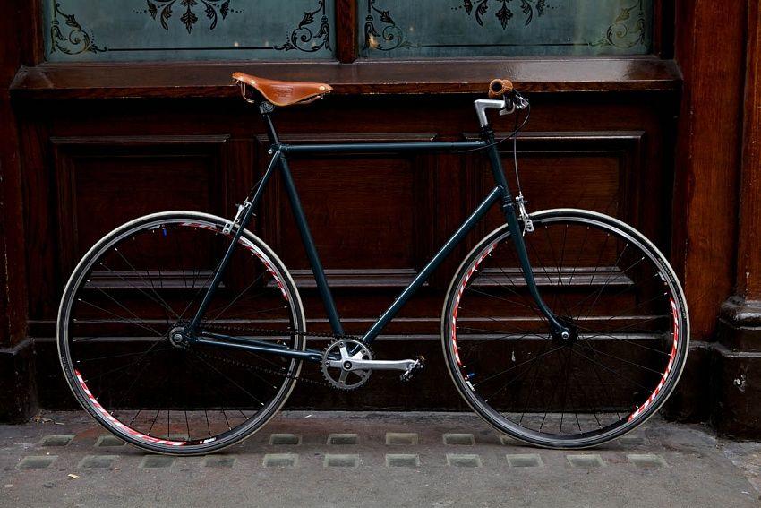 Really Nice Old Racer Pin Via Ship Anchor Fixed Bike Bike