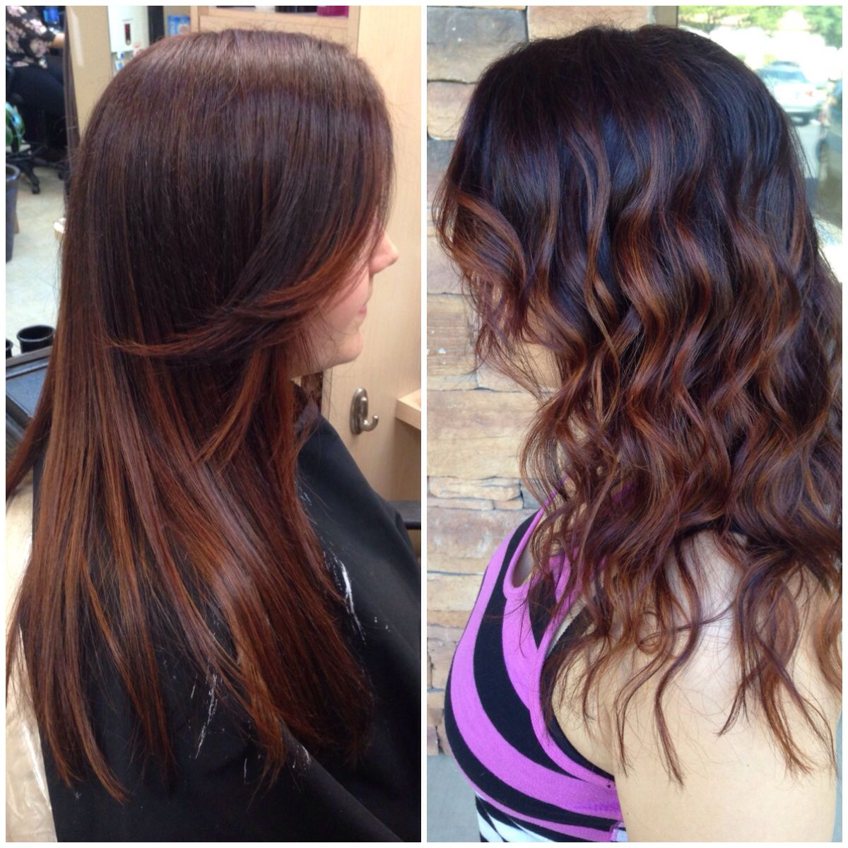Amber Balayage Ombr Weave On Naturally Dark Hair Laura Michelle
