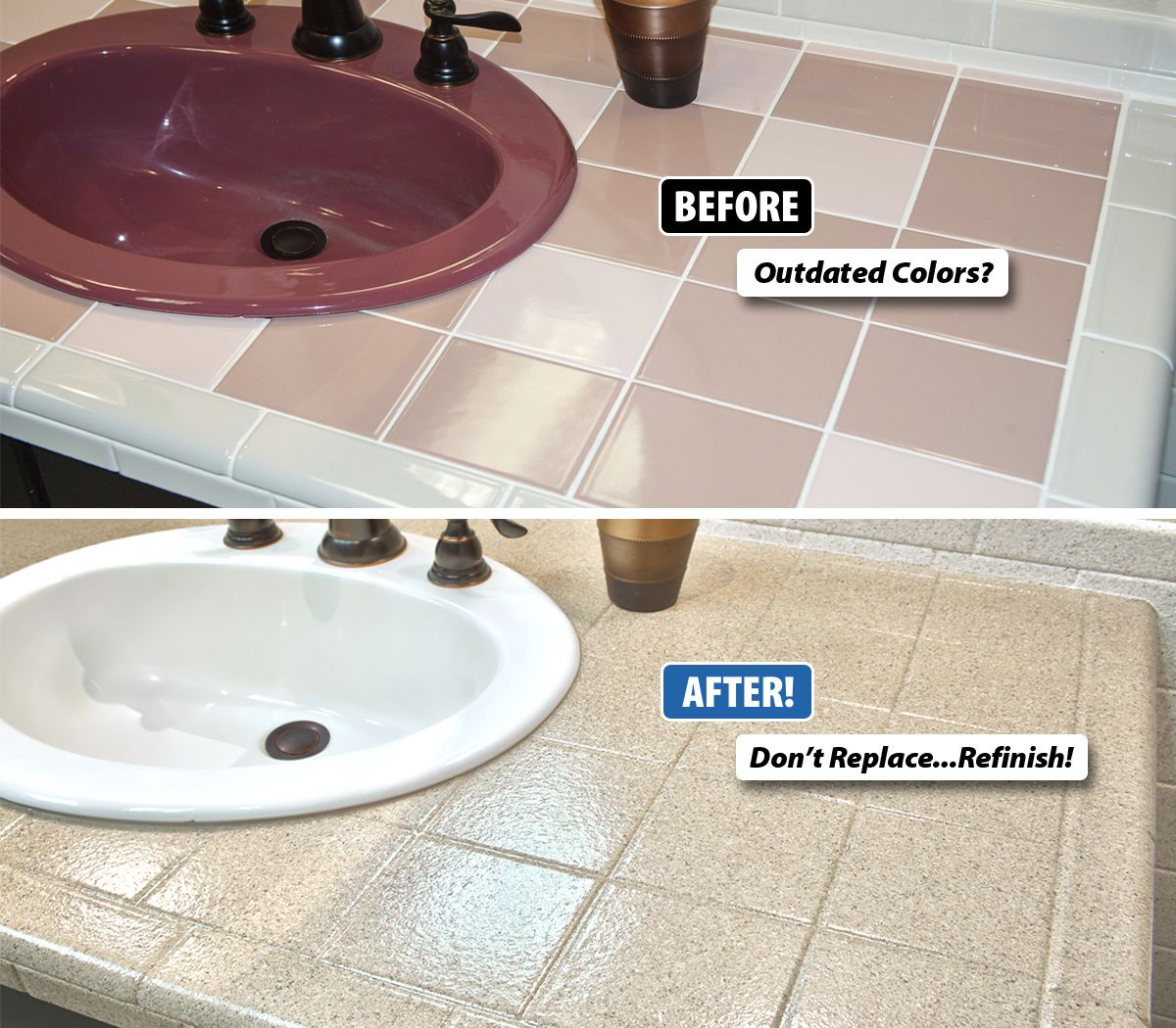 If youre getting ready to put your home on the market your ceramic tile refinishing and resurfacing is not only more practical but also less expensive than new tile and you can avoid the mess of removal and dailygadgetfo Choice Image