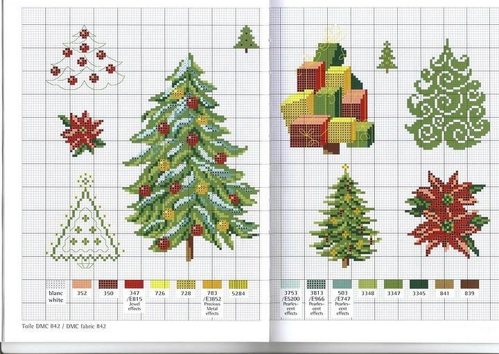 Новогодние открытки вышитые крестиком схемы