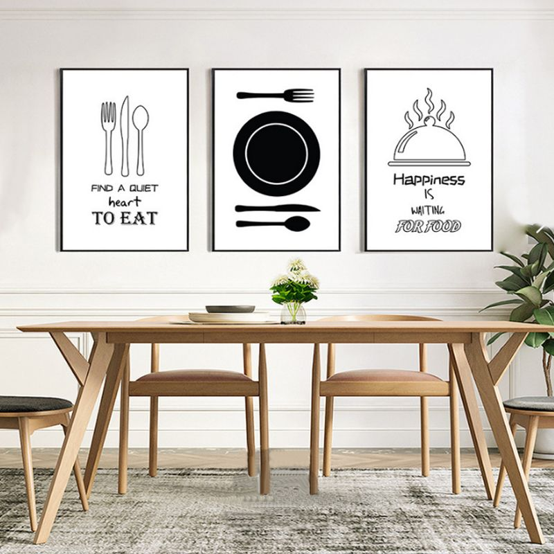 Minimalist Kitchenware Canvas Painting Black And White Nordic Poster Print Wall Art Pictures For Kitchen D In 2020 Kitchen Canvas Art Food Wall Art Canvas Painting Diy