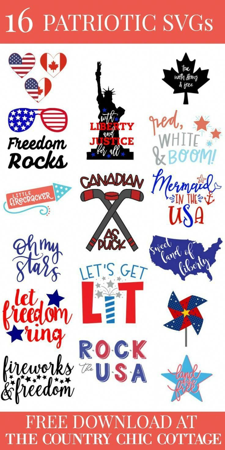 16 free patriotic SVG files all waiting for you to create