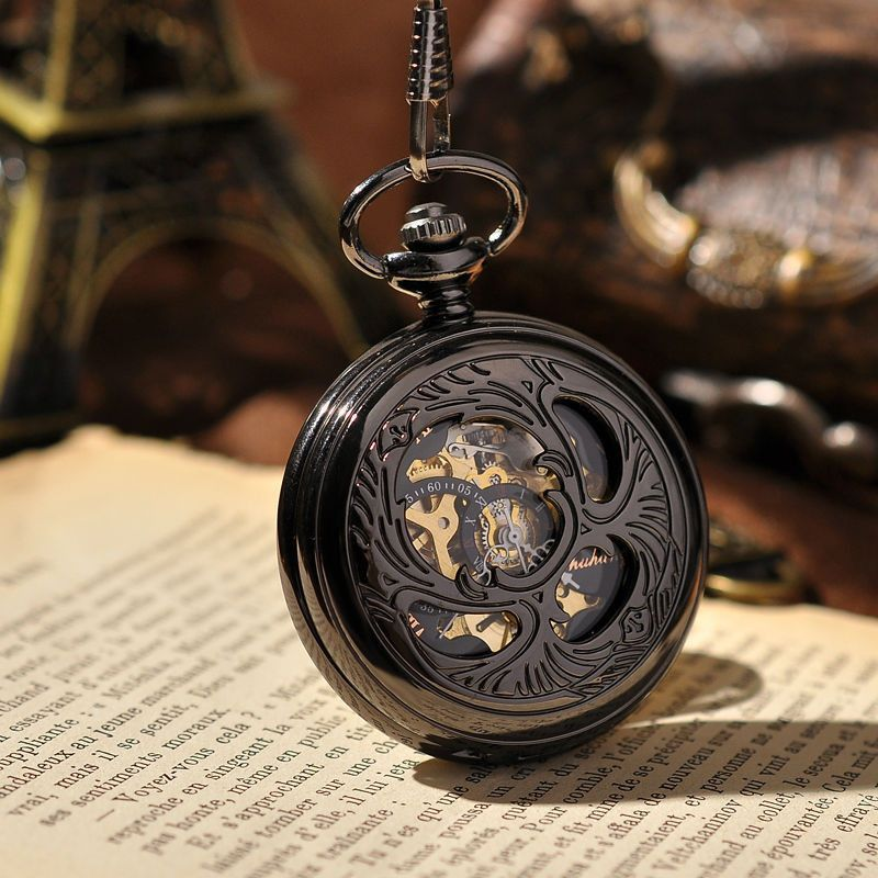 Lucky Japanese Beetle Steampunk Gear Pocket Watch