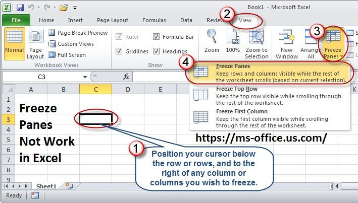 How To Troubleshoot Excel Freeze Panes Not Working Issue In 2020 Excel Page Layout Fix It