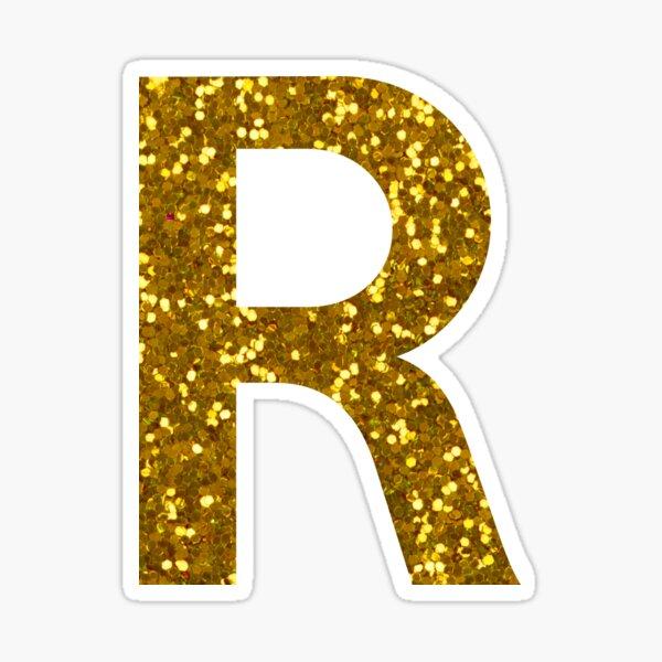 Letter R Glitter Stickers Glitter Stickers Fancy Letters Gold Letters