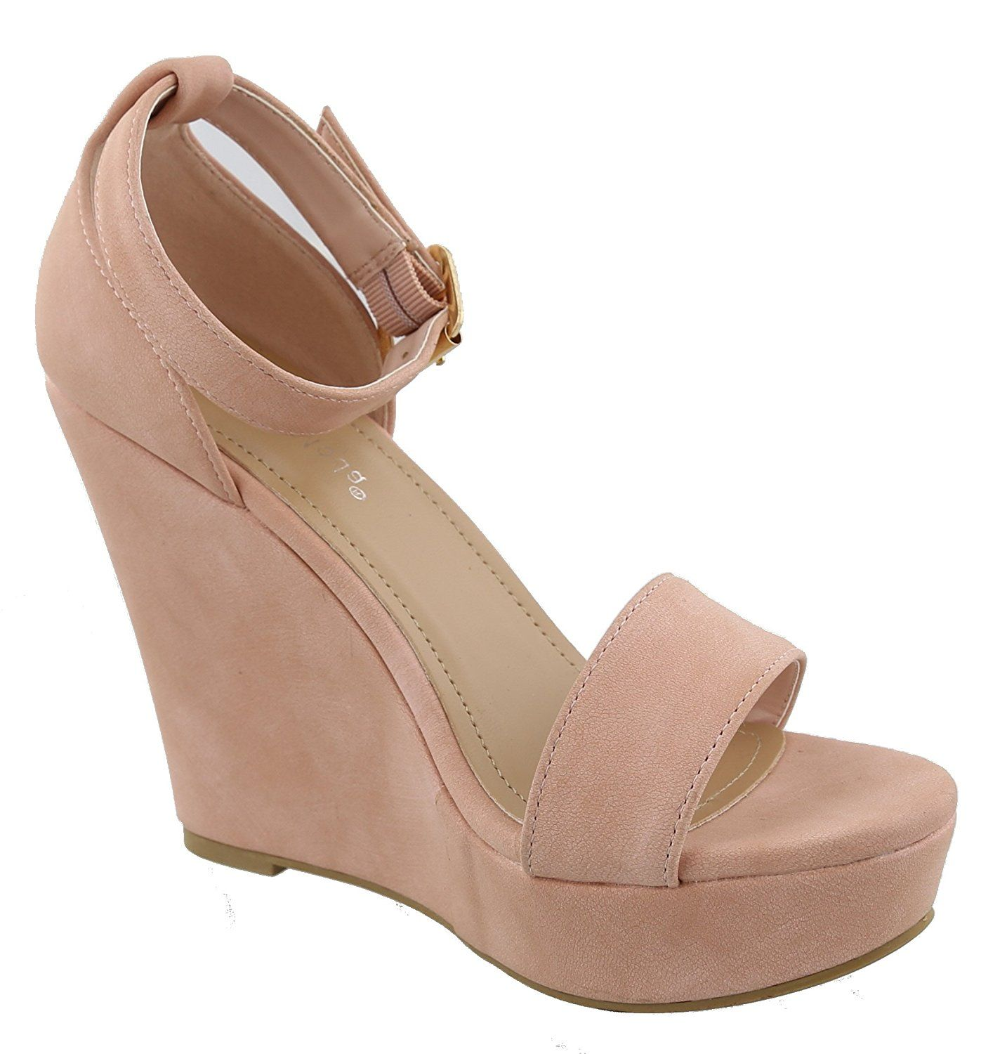 e913ca6743d Top Moda Womens Beryl-1 Platform Wedge Fashion Sandals With Ankle Strap    You can find out more details at the link of the image.