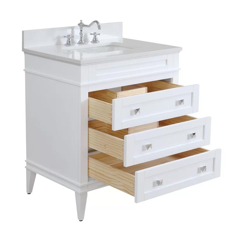 Wrought Studio Burmeister 30 Single Bathroom Vanity Set Reviews Wayfair Single Bathroom Vanity 30 Inch Vanity Vanity Set