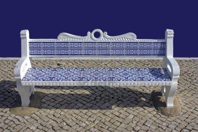 Super Stock Photo Portuguese Tiles Stone Bench Bench Tiles Gmtry Best Dining Table And Chair Ideas Images Gmtryco