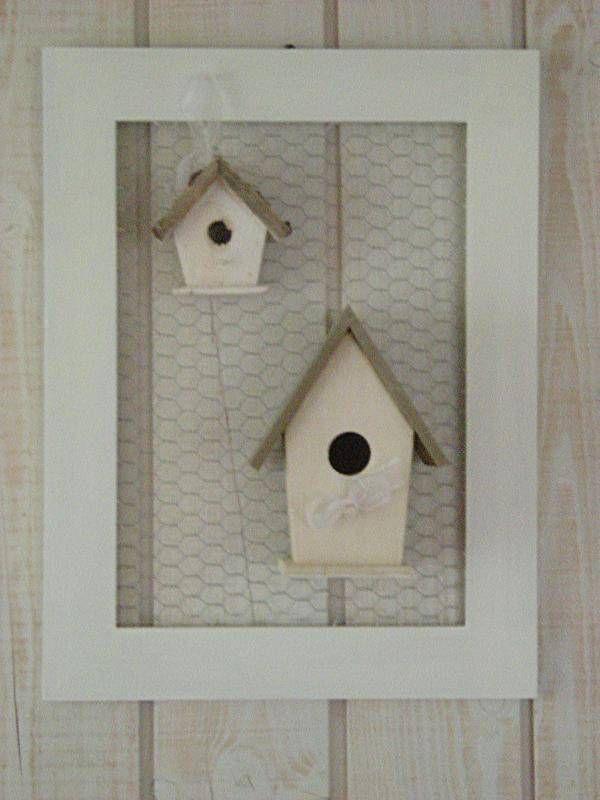 cadre nichoir cadres esprit patines fait maison deco en bois pinterest bricolage. Black Bedroom Furniture Sets. Home Design Ideas