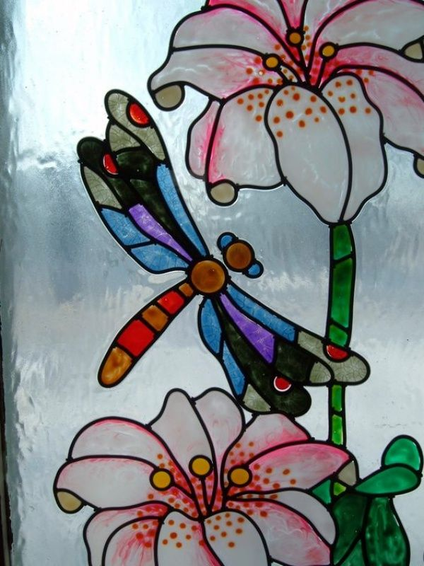60 Window Glass Painting Designs For Beginners Painting On Glass Windows Dragonfly Stained Glass Glass Painting Designs