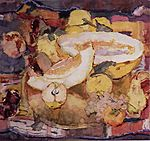 Fruits on the brass tray. 1980. Watercolors, paper, 52 x 55 cm-lg.jpg