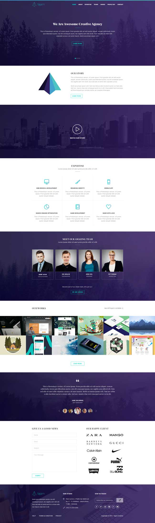 40 Best Free Landing Page Psd Templates