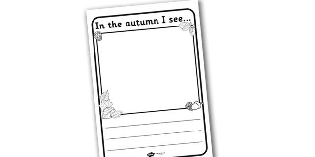 Twinkl Resources In The Autumn I See Writing Frame Printable