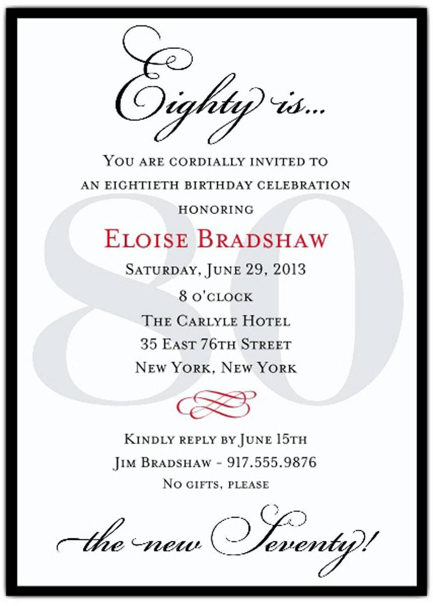 Awesome 80 Years Birthday Party Invitations Templates | 50th ...